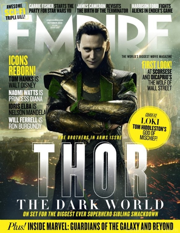 Empire Magazine - Thor - The Dark World - Loki Newstand Cover - Tom Hiddleston