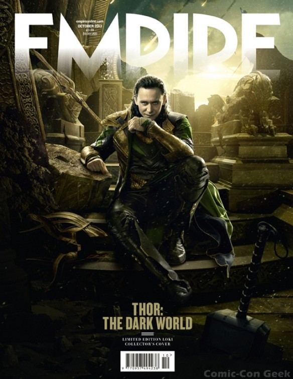 Empire Magazine - Thor - The Dark World - Loki Subscriber Cover - Tom Hiddleston