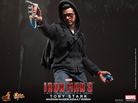 Hot Toys - Iron Man 3 - Tony Stark (Mandarin Mansion Assault Version) Collectible Figurine 007