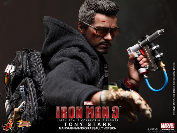 Hot Toys - Iron Man 3 - Tony Stark (Mandarin Mansion Assault Version) Collectible Figurine 008