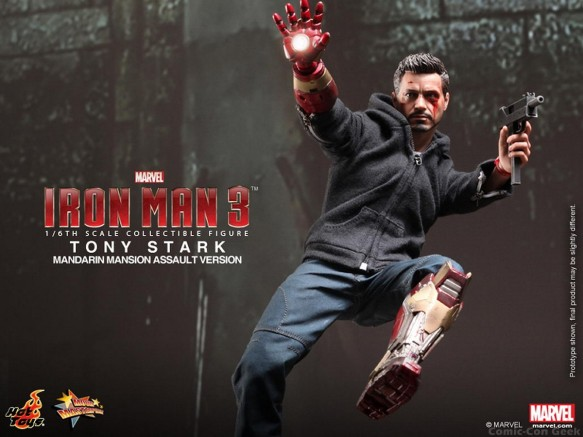 Hot Toys - Iron Man 3 - Tony Stark (Mandarin Mansion Assault Version) Collectible Figurine 009