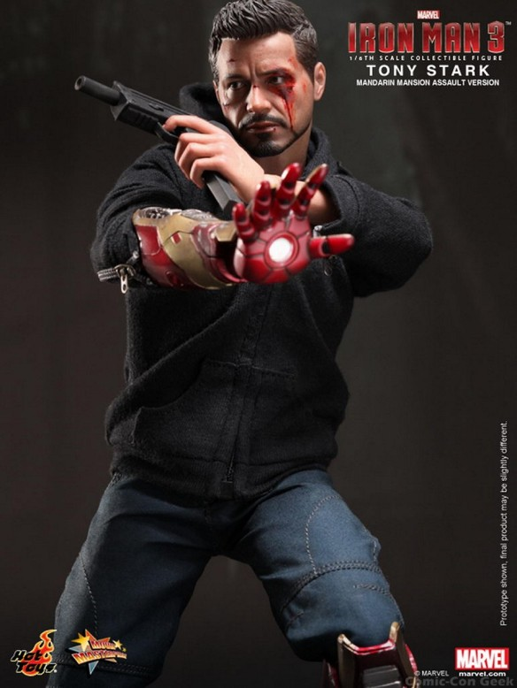 Hot Toys - Iron Man 3 - Tony Stark (Mandarin Mansion Assault Version) Collectible Figurine 010