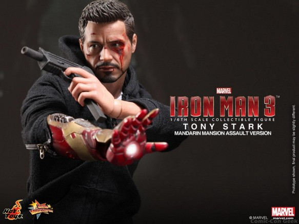 Hot Toys - Iron Man 3 - Tony Stark (Mandarin Mansion Assault Version) Collectible Figurine 011