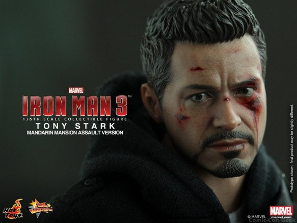 Hot Toys - Iron Man 3 - Tony Stark (Mandarin Mansion Assault Version) Collectible Figurine 015