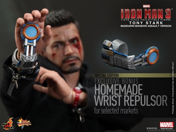 Hot Toys - Iron Man 3 - Tony Stark (Mandarin Mansion Assault Version) Collectible Figurine 018