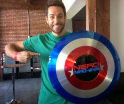 Zachary Levi - The Nerd Machine - Shield