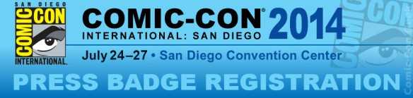 Comic-Con 2014 -  Press Badge Registration - SDCC - Header